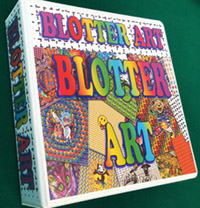Blotter art display folder