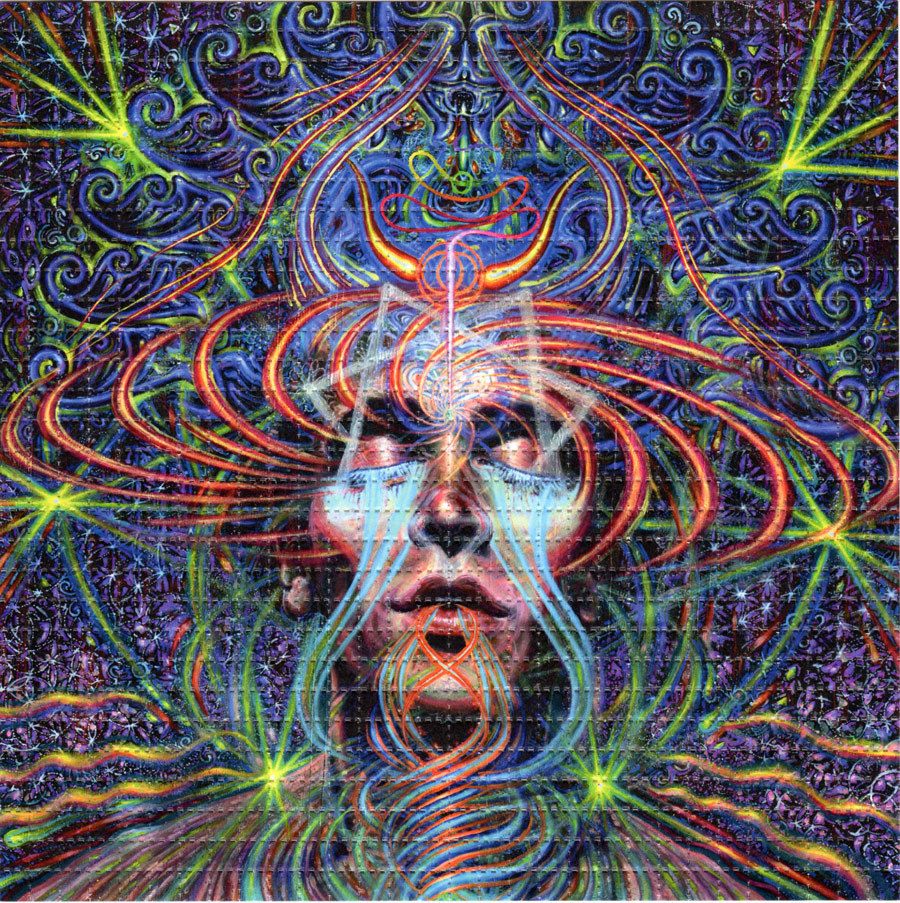 the gallery for gt psychedelic face art