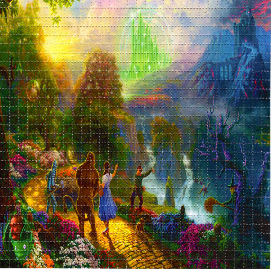 wizard of oz blotter art perforated psychedelic item specifics