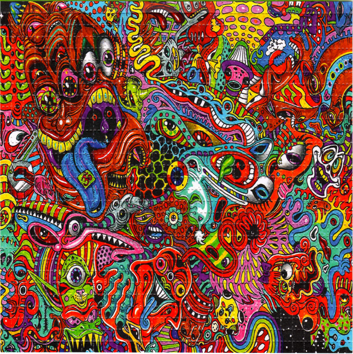 Wowza blotter art psychedelic perforated lsd acid art hofmann ebay - Trippy acid pics ...